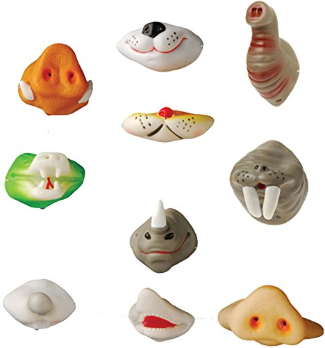 U.S. Toy Assorted Animal Noses - Set of Animal Series Nose Masks -