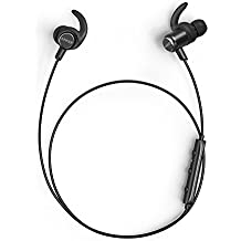 Anker SoundBuds Slim+ Wireless Headphones Lightweight Bluetooth 4.1 Stereo Earbuds with AptX Superior Pure Sound IPX5 Waterproof Sports Headset with Metallic Housing & Built-in Mic [Upgraded]