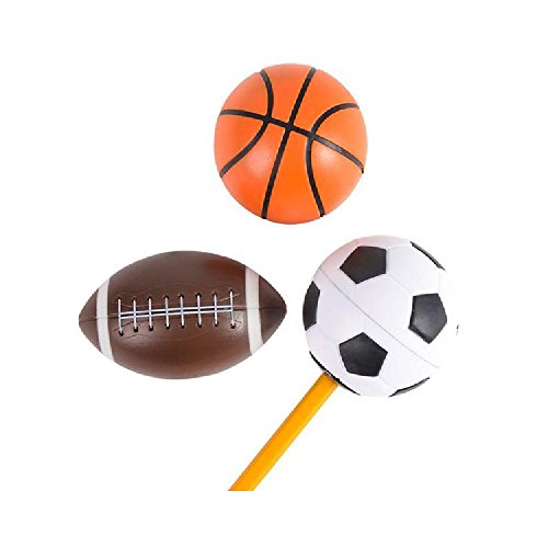 2'' Sports Ball Pencil Sharpener by Bargain World