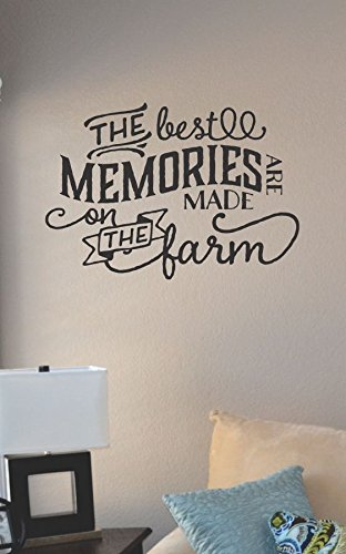 The best memories are made on the farm vinyl wall art decal sticker