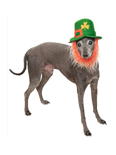 Rubie's St. Patty's Day Pet Costume Hat with Beard, -
