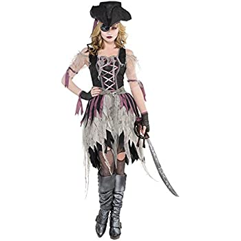 PIRATE WENCH ADULT WOMENS FANCY DRESS HALLOWEEN BUCCANEER COSTUME