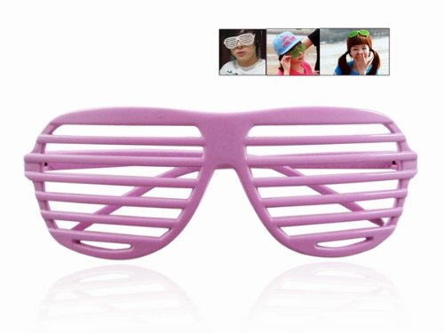 Gosear Plastic Fashion Sunglasses Shutter Shade - Louvered Sunglasses