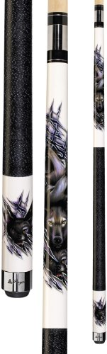 (Players D-CWWP White with Howling Wolves Cue, 18-Ounce )