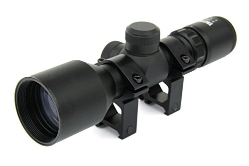 TacFire 3-9X42 Compact Tactical Mil-Dot Reticle Rifle Scope Weaver Picatinny Rings and Lens Covers