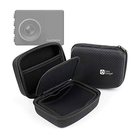 DURAGADGET Deluxe Hard EVA Box Case in Black - Compatible with The Garmin Dash Cam 65W | Garmin Dash Cam 45 | Garmin Dash Cam 55 |