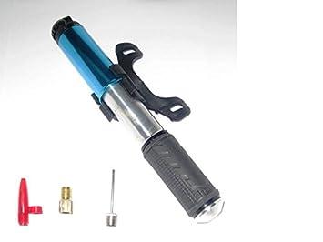 Mini Bomba Inflador para Bici, Balón, Colchoneta, etc Con Soporte para Bicicleta