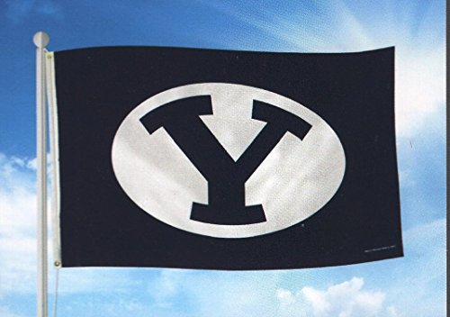 Rico Industries NCAA BYU Cougars 3-Foot by 5-Foot Single Sided Banner Flag with Grommets