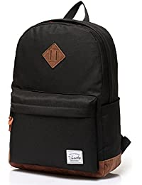 Unisex Classic Water Resistant School Backpack Fits 14Inch Laptop