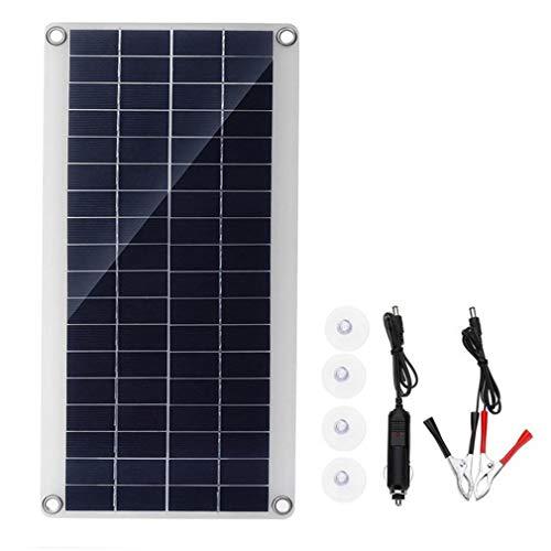 Kitechildhood Módulo Flexible de Las células solares del Panel de Polysilicon del Panel Solar de 25W DC para el Negro…