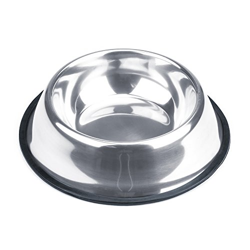 - Weebo Pets Stainless Steel No-Tip Food Bowls - Choose Your Size, 4-ounce to 72-ounce (16oz. Rover)