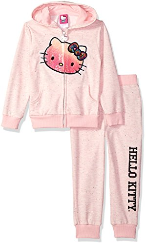 Hello Kitty Baby Little Girls' 2 Piece Embellished Active Set, Soft Pink, 4
