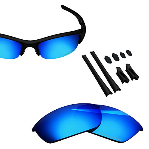 BlazerBuck Anti-salt Polarized Replacement Lenses & Sock Kit for Oakley Flak Jacket - Ice ()