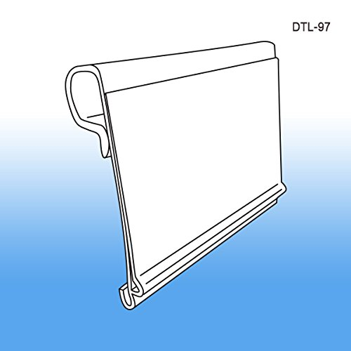 Data-Tag™ Label Holder for Scan Plates on Metal Display Hooks, DTL-97, Pack of 25