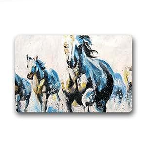 """Custom Horse Doormat Outdoor Indoor 18""""x30"""" about 46cmx76cm"""