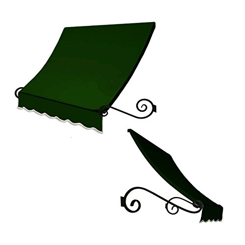 Awntech 4-Feet Charleston Window/Entry Awning, 24 by 36-Inch, Forest Green (Designer Window Awning)