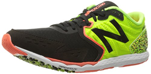 New Balance Men's Hanzo Running Shoe, Lime/Black, 9 D US