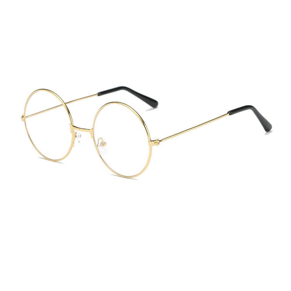 059d3c0d4fa6 Unisex Round Glasses Metal Frame Summer Retro Clear Lens Vintage Geek  Eyelasses  Amazon.ca  Clothing   Accessories
