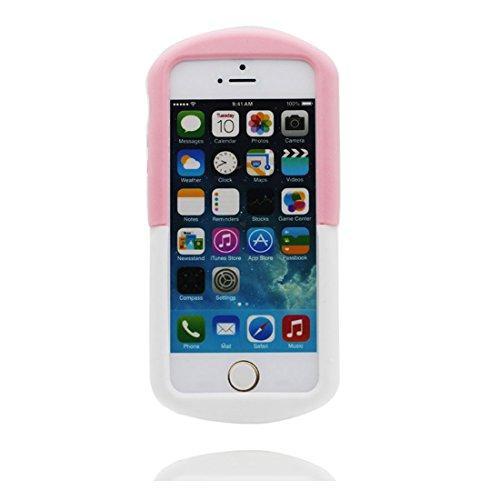 iPhone 5S Coque, iPhone 5 5C 5G étui, [TPU Material Flexible souple durable] iPhone SE Case, iPhone 5 Cover Shell, anti- chocs- 3D Cartoon (Pill) & Bouchon anti-poussière