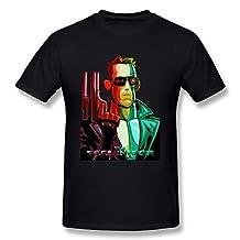 Skynet Logo Mens T-Shirt Cyberdyne Systems Terminator Arnold 80s Retro Black