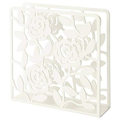 Ikea Napkin Holder White Floral Design, Steel