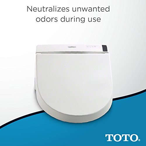 TOTO Electronic Toilet with and Lid, Elongated, Cotton