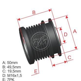 Nueva ZM embrague Polea de alternador DAYCO ALP2389 Gates OAP7086 Ina 535 0140 10, f