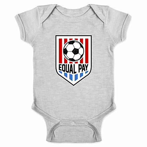Equal Pay USA Women Soccer National Team Gray 12M Infant Bodysuit