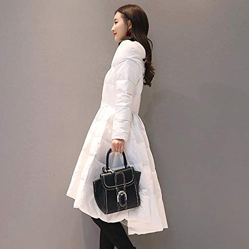 Capispalla Invernale Down Black Fxchen Wadded Long Winter Plus Elegante Da Parka Size Donna Giacca Women Coat S Cotton 57w7qO0