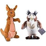 """Disney Winnie the Pooh Kanga Plush Toy 9.5"""" & Owl Plush 7"""""""