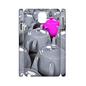 3D Samsung Galaxy Note 3 Case Pink Porcelain Pot, Dustin, {White}