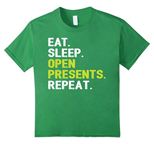 Kids Eat Sleep Open Presents Repeat Christmas Shirt 12 (Funny Original Group Costume Ideas)