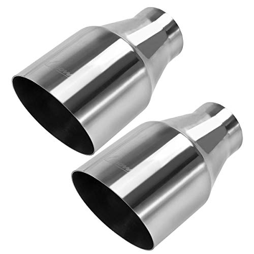- Pack of 2 Universal Stainless Steel Exhaust Tip 2.25