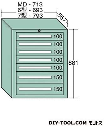 大阪製罐 スタンダードキャビネット 幅×奥行×高さ:793×557×881mm 7-808