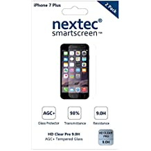 iPhone 7 Plus Screen Protector, 3D (Full Coverage) Nextec® Corning® Tempered Glass Screen Protector for Apple iPhone 7 Plus (HD Clear Pro + Blue Light UV Filter 9.0H) Corning® Gorilla Glass/ Black