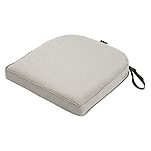 """Classic Accessories Montlake Cont. Seat Cushion Foam & Slip Cover, Heather Grey, 20x20x2"""" Thick"""