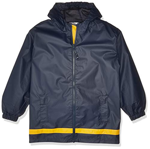 Charles River Apparel Kids' Big New Englander Rain Jacket, True Navy/Yellow, M