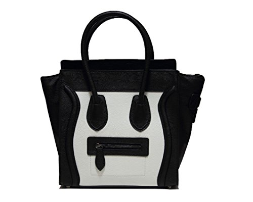 Classic Women's White and Black Smile Bag Handbag Shoulder ()