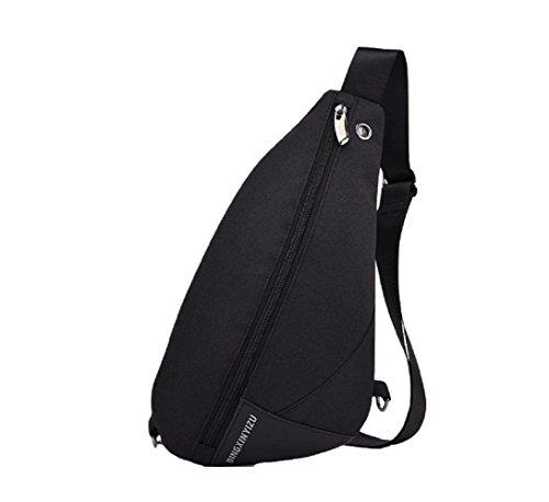 Zhrui Negro Chest Hombro Multifunction Bag Crossbody Bolso Bolsas Negras Shoulder de Sport Mochila Bag HB16rHn
