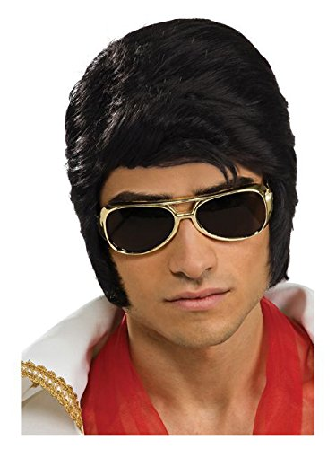 Elvis Now Deluxe Wig, Black, One Size