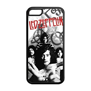 MMZ DIY PHONE CASECustom Your Own Led Zeppelin Rock Band Silicon iphone 5/5s Case , Best Durable Led Zeppelin iphone 5/5s Case