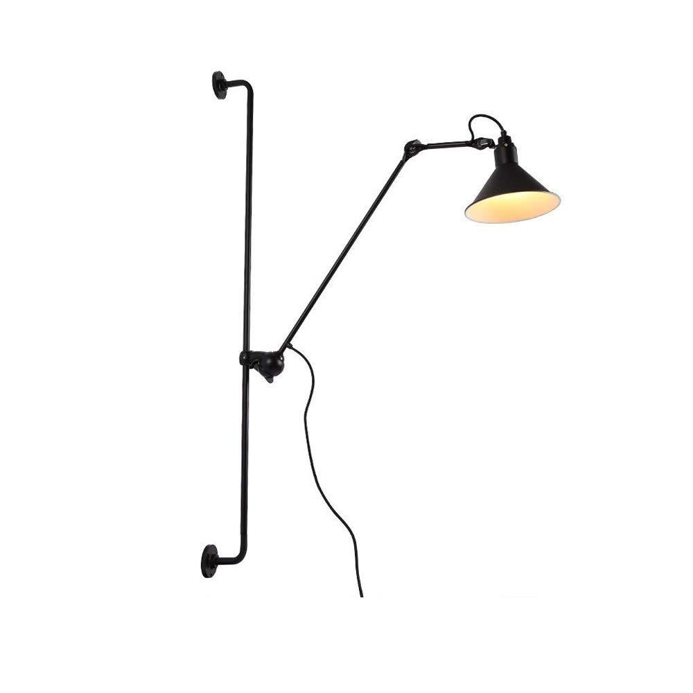 Modern LED Wandleuchte Einstellbar Wandmontage 360° Drehbar flexible flexible flexible Arm Design mit Schalter Wandlampe Innen Dekoration Leseleuchte Bettleuchte Nachttischlampe Büro Lampen E14 1-flammig Schwarz 5fb184
