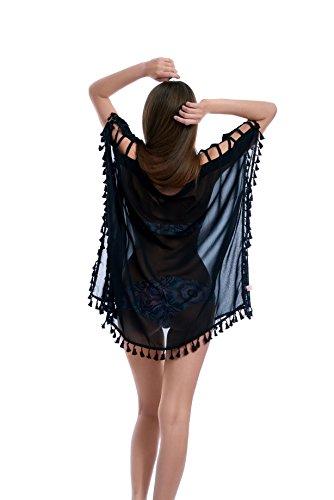 9679ce54c9 Elegant Beachwear Swimsuit Cover Up - Bikini Swimwear Cover up for Women - Chiffon  Tassel Cover