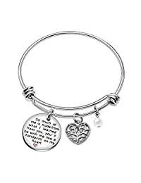 Bangle Bracelet Best Friend Jewelry Graduation Gifts for Teacher Pearl - So Much of Me Learned from You