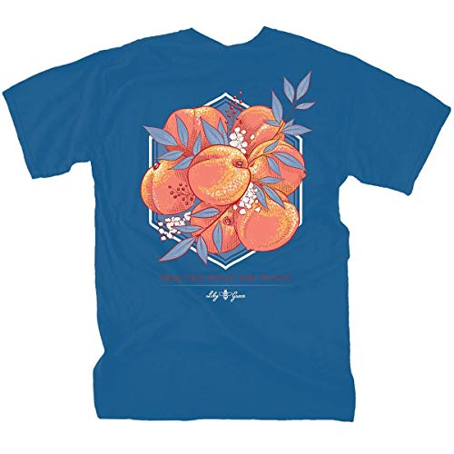 (Lily Grace Practice What You Peach - Ocean | Women's Topside Cotton T-Shirt )