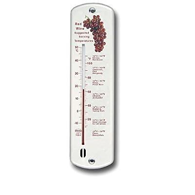 250mm Design Vin Rouge Thermomètre mural–blanc
