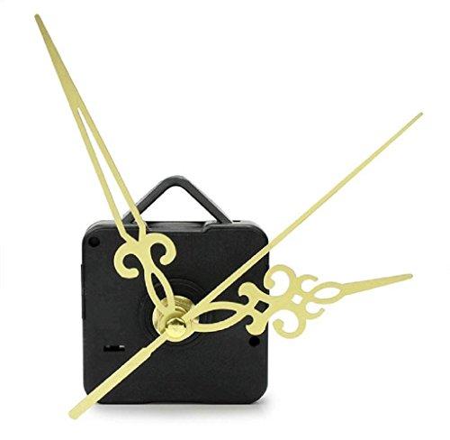 Quartz clock movement Kit,Sumilulu Simple Gold Hands DIY Quartz Wall Clock Movement Mechanism Replacement