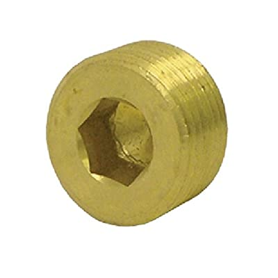 "Tectran 118-C Brass Countersunk Hex Head Plug, 3/8"" Pipe Thread, Pack of 10: Automotive"