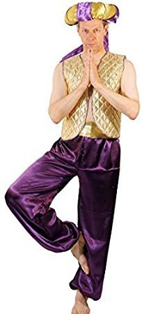[Panto-Fairytale-Pantomime ALADDIN GENIE OF THE LAMP Men's Fancy Dress Costume - All Ages (AGE 3-4)] (Panto Costumes For Kids)