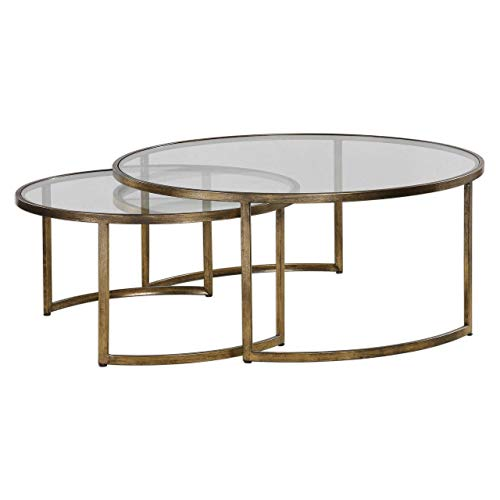 Uttermost 2-Pc Nested Coffee Table Set (Coffee Stephanie Table)